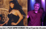 """Actors Mark Pirro and Marya Gant on set of """"A Polish Vampire in Burbank"""" (1983) and at the 30 year reunion party (2013)"""