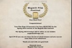 Certificate for Rage of Innocence Magwell Film Festival